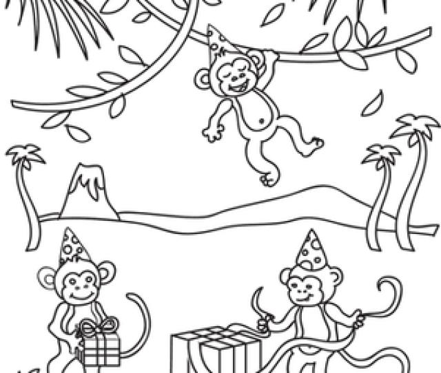 Birthday Monkey Worksheet Education Com