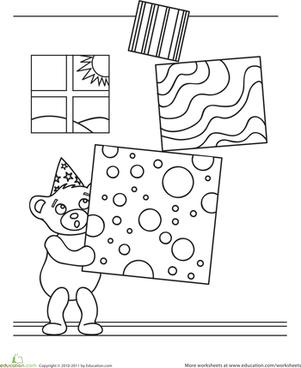 Birthday Teddy Bear Worksheet Education Com