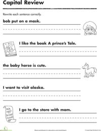 Practicing Capitals | Worksheet | Education.com