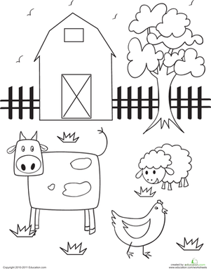 Barn Worksheet Education Com
