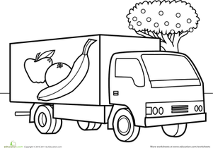 Preschool Vehicles Coloring Pages & Printables Page 2