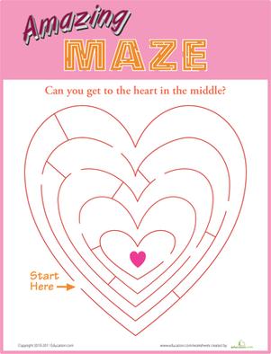 Kindergarten Mazes Worksheets Amp Free Printables