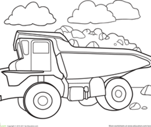 Color A Car Dump Truck Worksheet Education Com