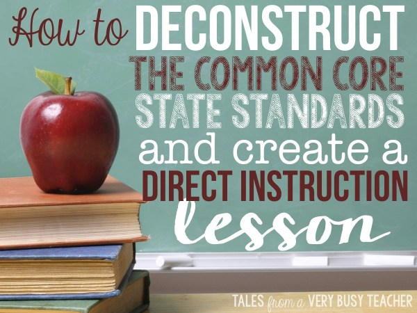 Deconstruct Common Core Standards And Create