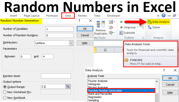 Generate Random Numbers In Excel Examples How To Generate