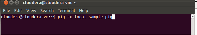 local sample pig command
