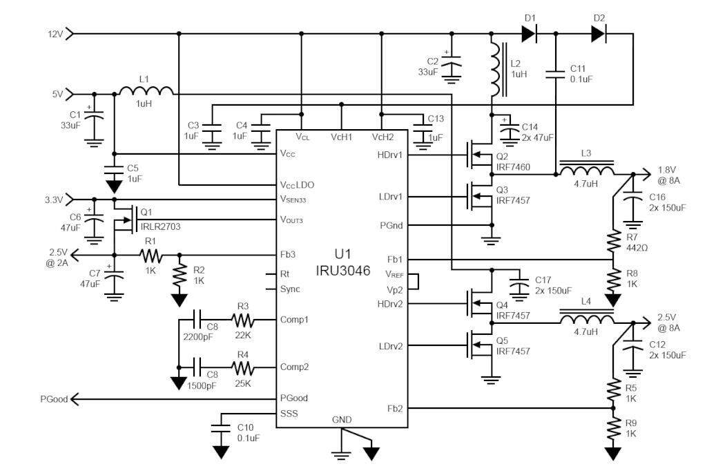 Dual Synchronous PWM Controller and LDO Controller in