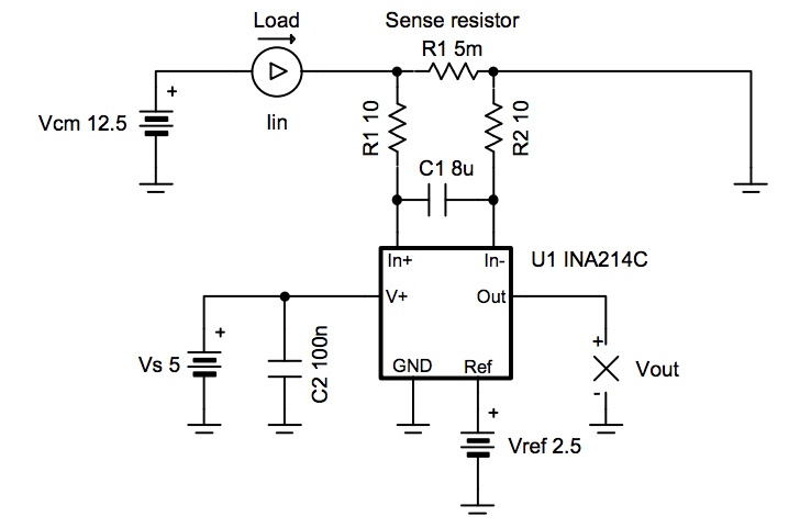 Low-Drift, Low-Side, Bidirectional Current Sensing Circuit