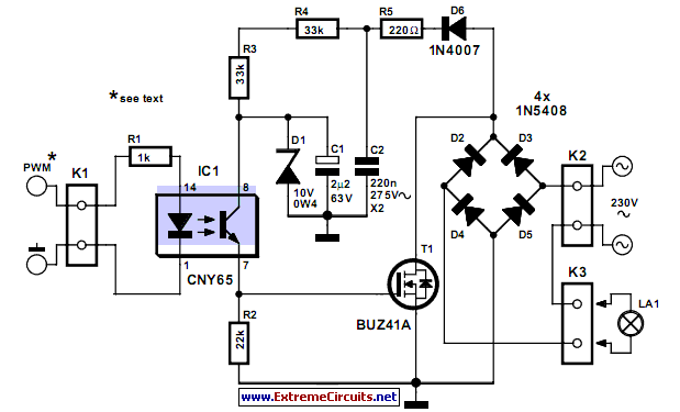 Dimmer With A MOSFET EEWeb Community