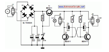 led light circuit diagram for dummies star delta wiring control bike project eeweb community such a pcb is used both the front and rear of course you use white leds red ones