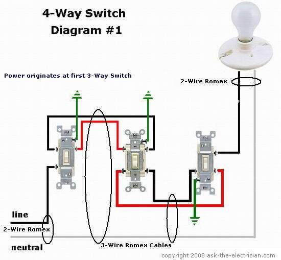 way switch common and traveler terminals