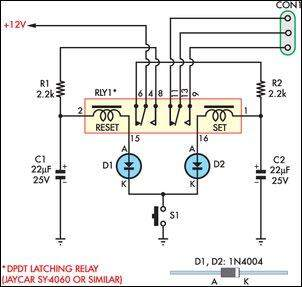 4 pin relay switch wiring diagram msd 6al lt1 momentary free for you teamed with latching eeweb community rh com