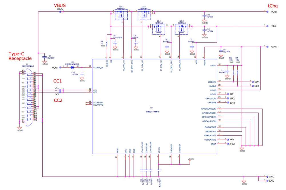 medium resolution of  usb type c power delivery with bm92a12mwv evk 001 schematic