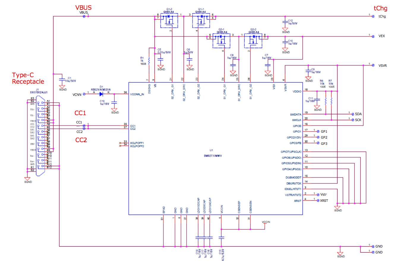 hight resolution of  usb type c power delivery with bm92a12mwv evk 001 schematic