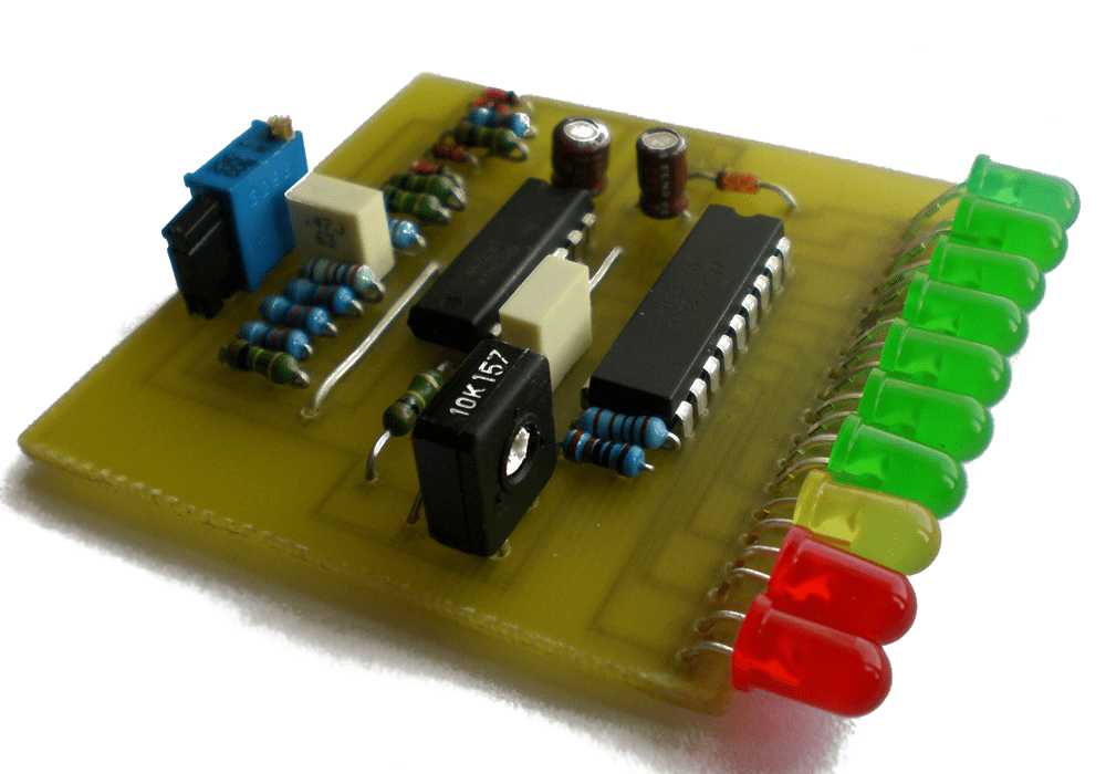 Lm3915 Audio Level Led Indicator Circuit Diagram