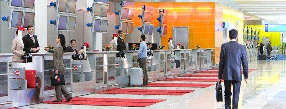 wheelchair emirates indoor rocking chair cushions check in terminal 3 dubai international airport