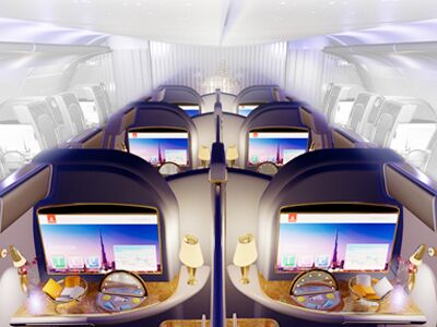 first class cabin features