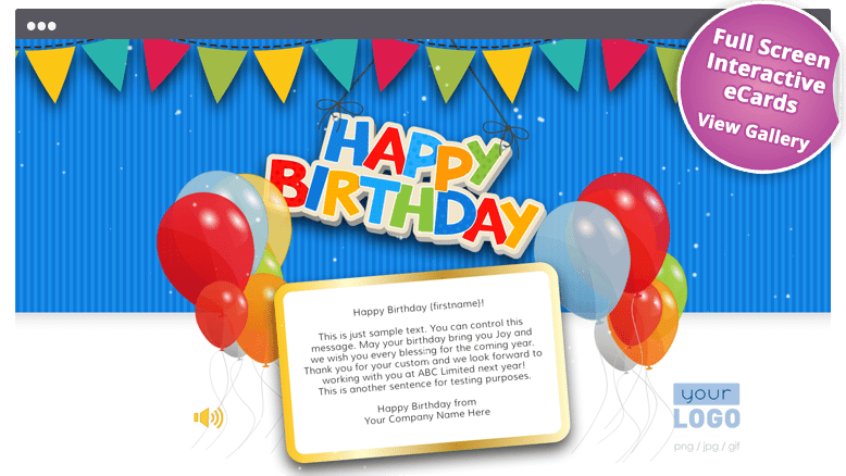 Corporate Birthday ECards Employees & Clients Happy