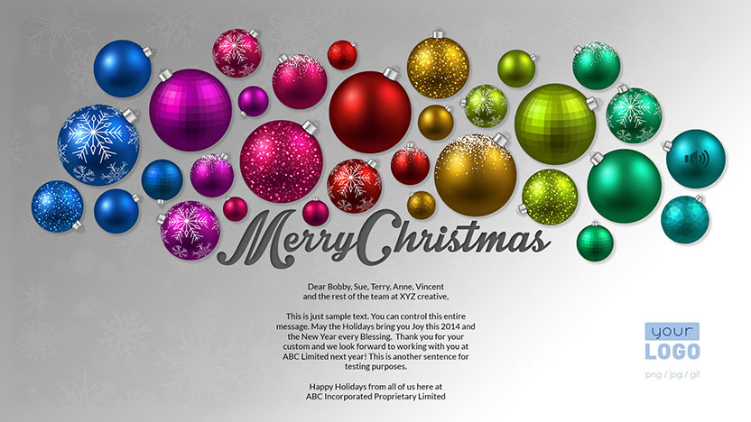 Corporate Christmas Holiday ECards 2015 Ekarda