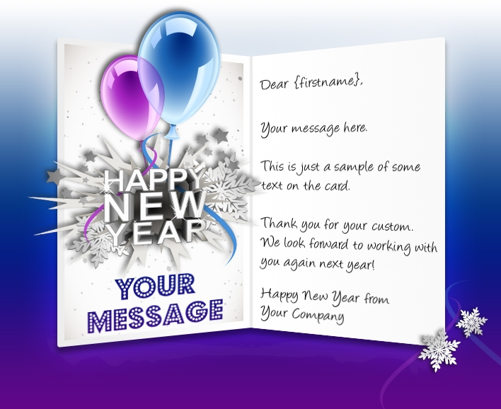 Business New Years Cards Corporate Happy New Year