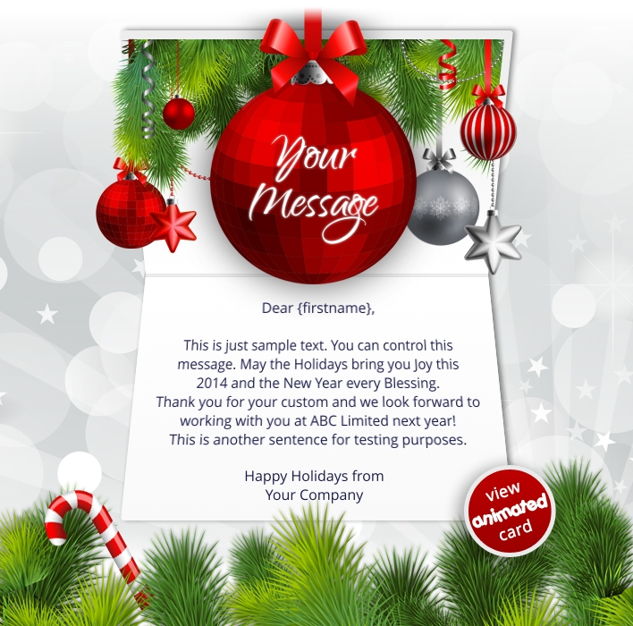 Corporate Christmas ECards Ekarda