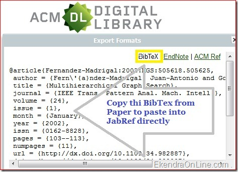 BibTex from a Journal in ACM Digital Library