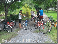 New students in AIT with New bicycles
