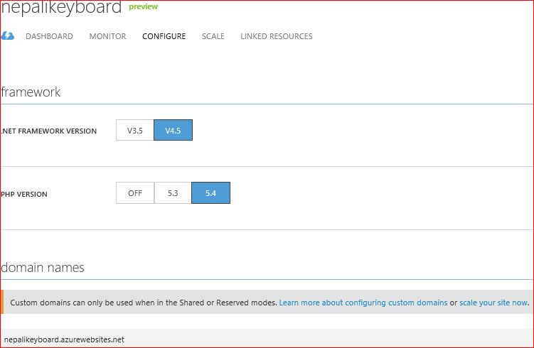 Configuring custom domain for Windows Azure cloud based WordPress blog