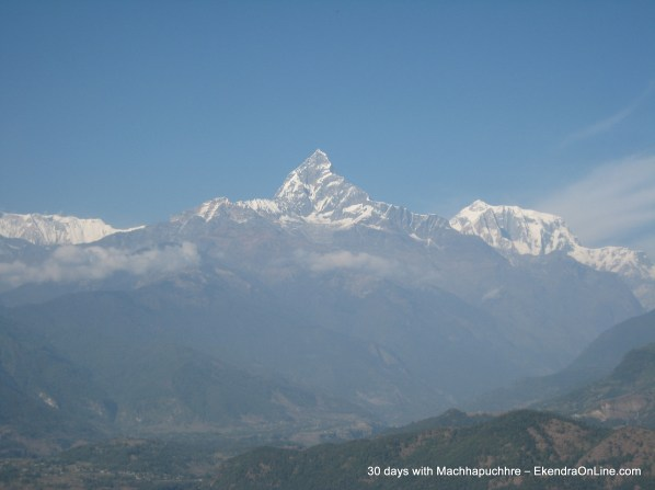 Cool Machhapuchhre as Seen from my Home in Pokhara, Nov 30th, 2011