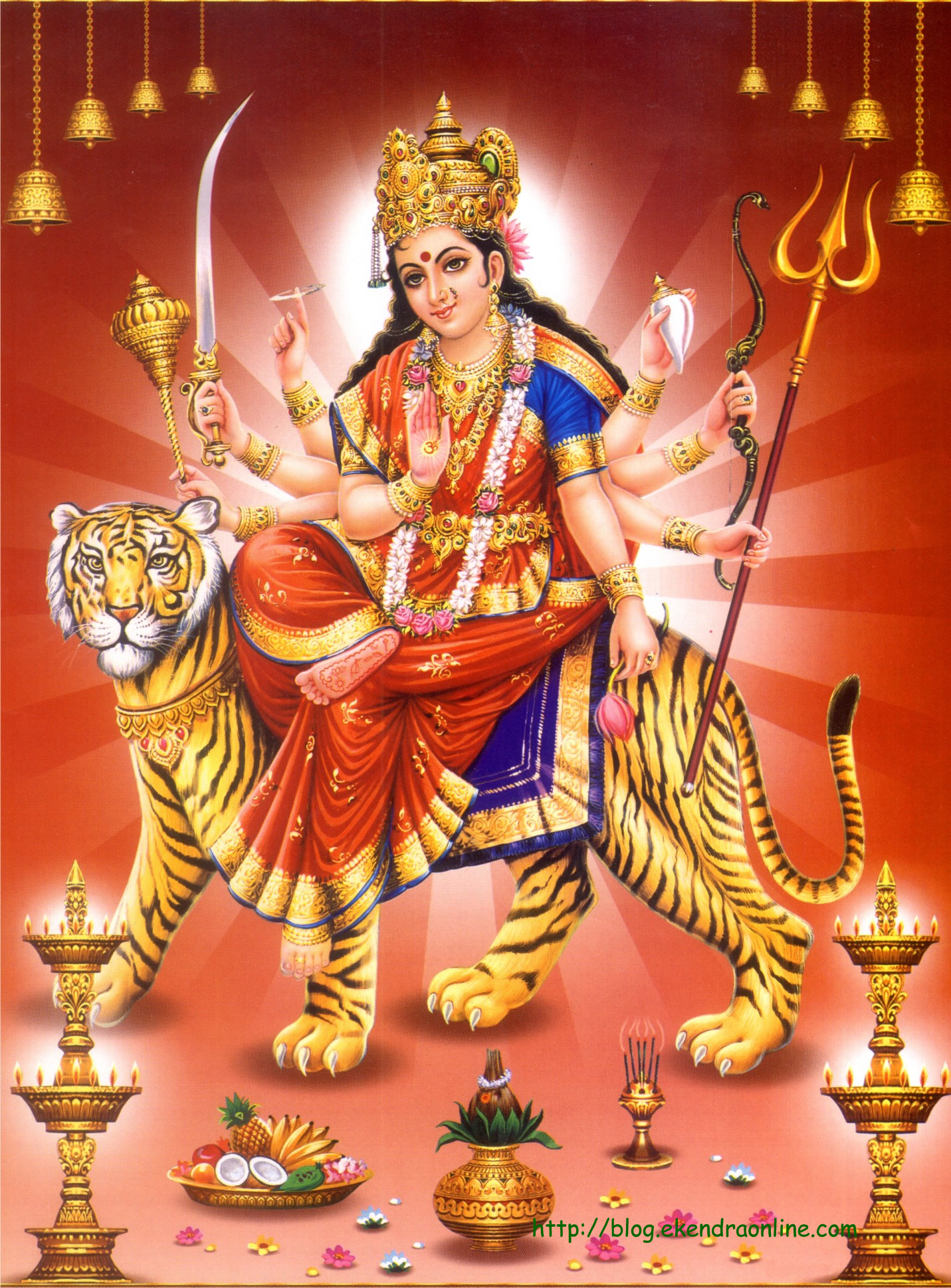 Praying Durga mata on Dashain/ Nava ratri