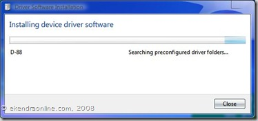 Installing device driver software
