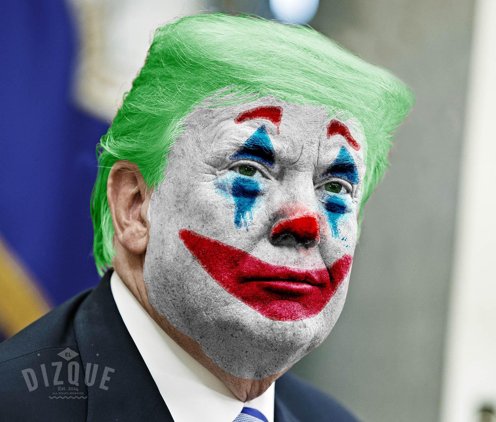 Causa sorpresa Donald Trump al maquillarse como el Joker