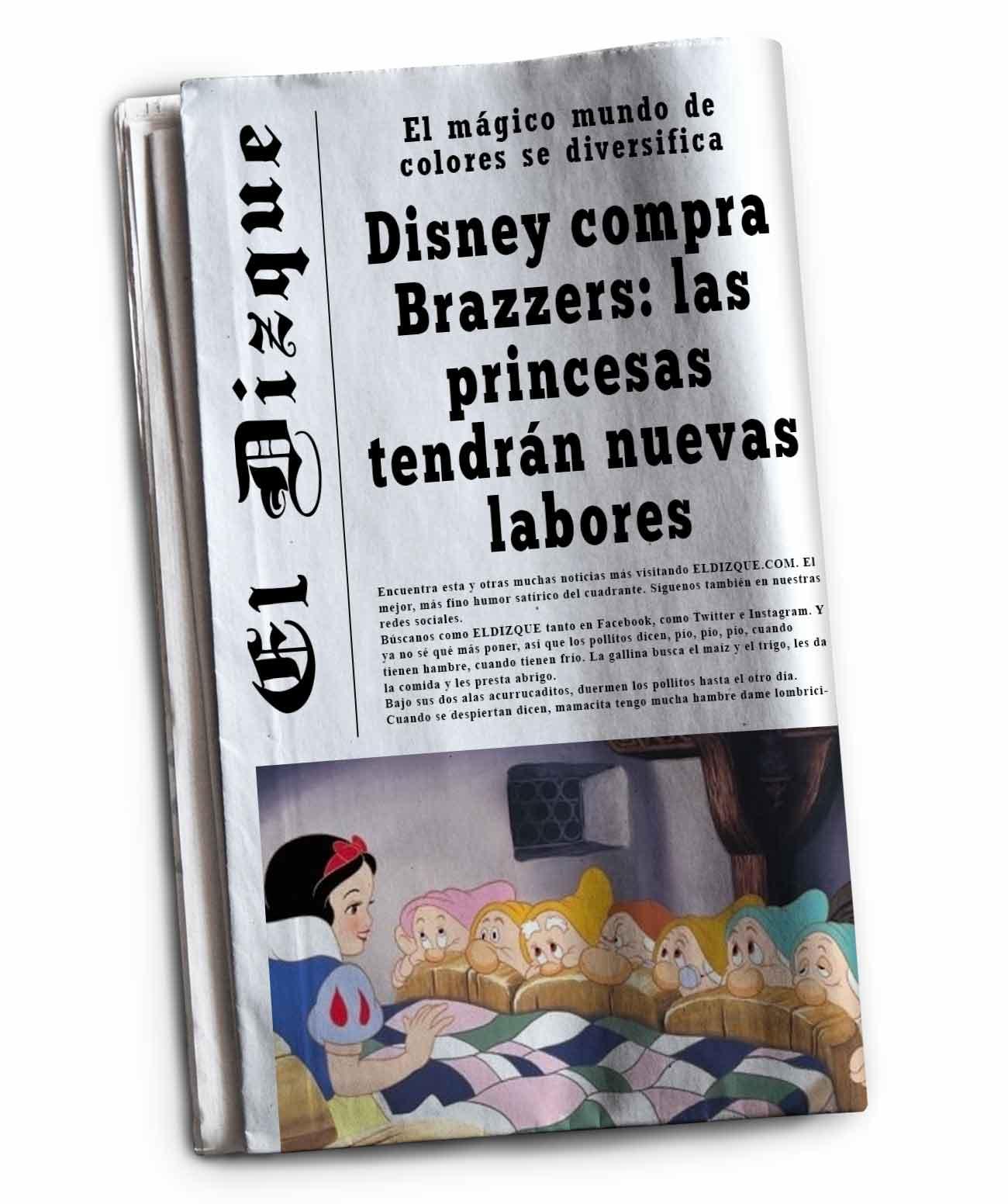 Disney compra Brazzers: Las princesas tendrán nuevas labores