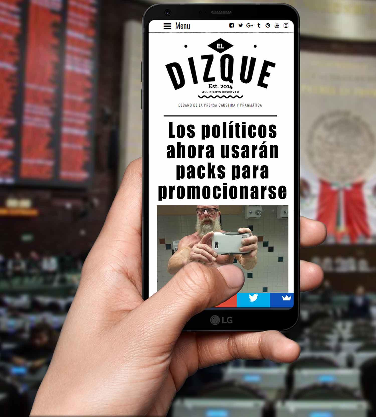 Los políticos ahora utilizarán packs para promocionarse