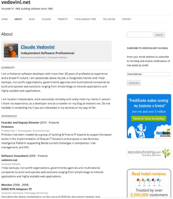 How To Create An Online Resume Using WordPress Elegant