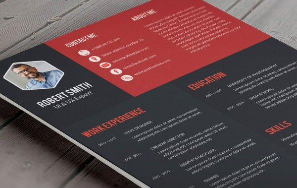 PSD Freebies Resume