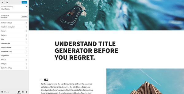 Free Divi Article Layout & Customizer Settings: Improve Site