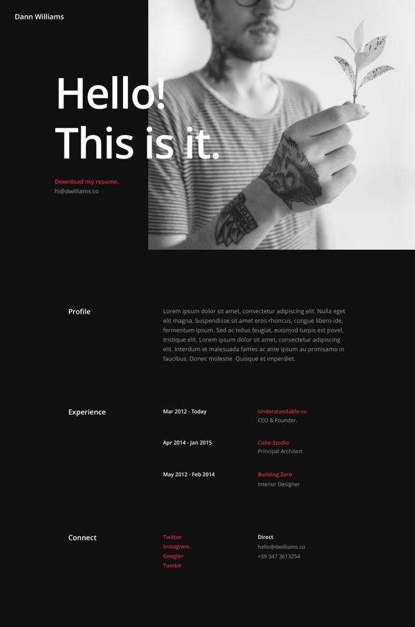 Free Divi Download Resume Pages Layout Pack  Elegant