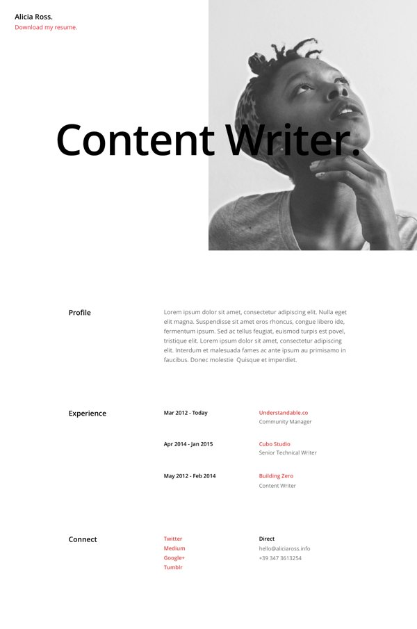 Free Divi Download Resume Pages Layout Pack  ahhaDEAL