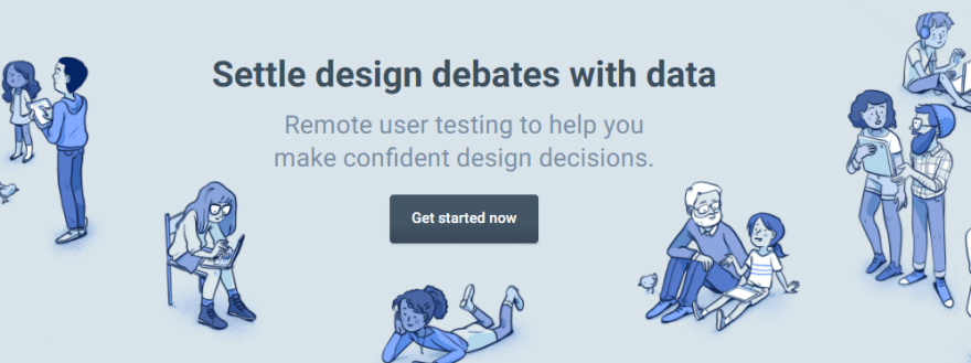 The UsabilityHub homepage.