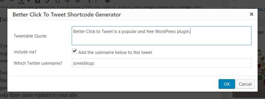 Better Click to Tweet Generator Popup