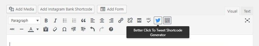 Better Click to tweet Shortcode generator