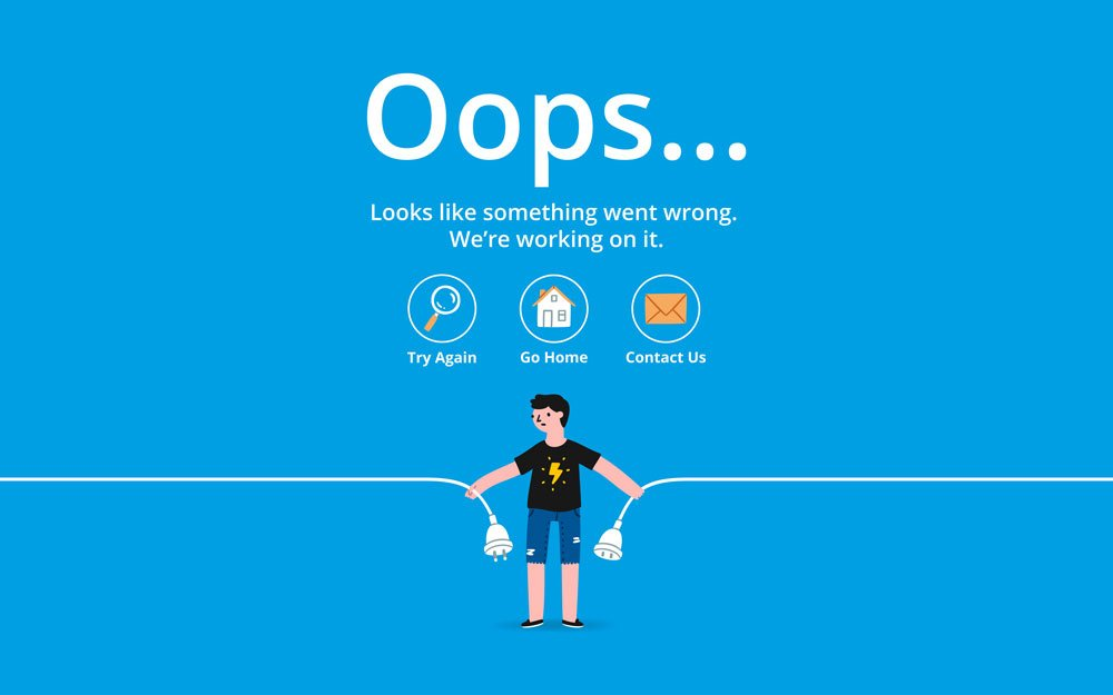 404 error page website improvements