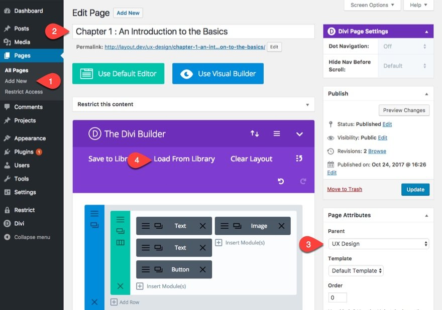 add new lesson page