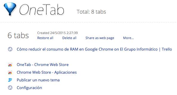 Imagen - Cómo reducir el consumo de RAM en Google Chrome