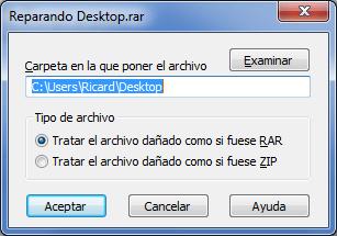 Imagen - Reparar un archivo comprimido en WinRar
