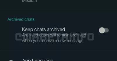 WhatsApp already allows you to archive conversations forever in the beta