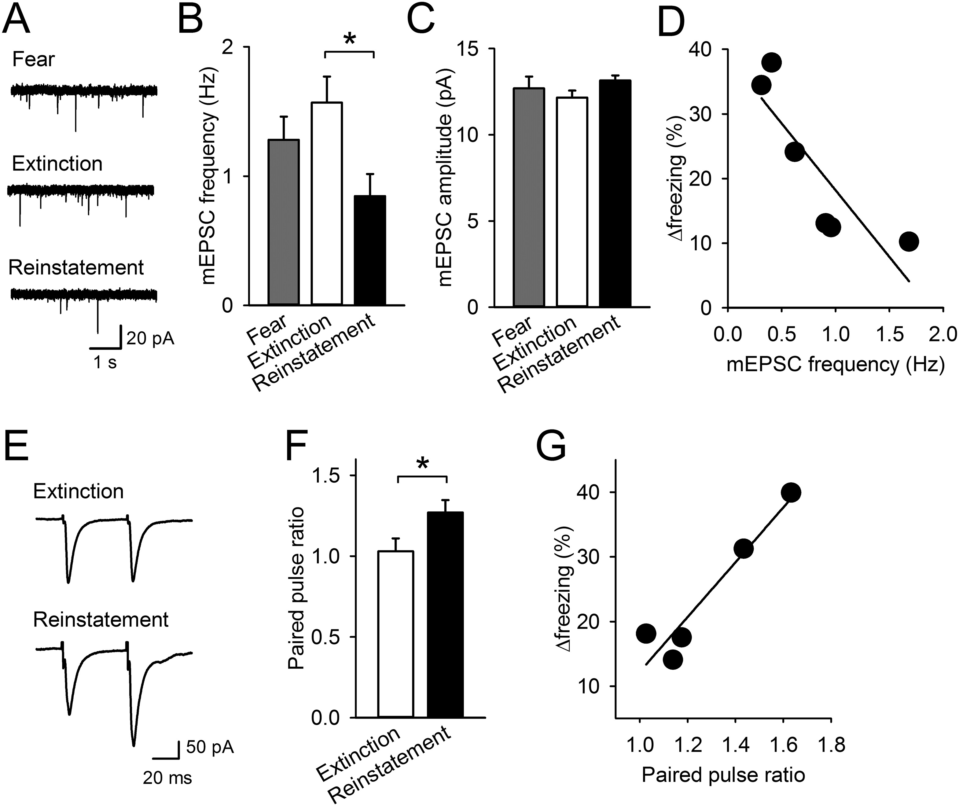 Prefrontal dopamine regulates fear reinstatement through