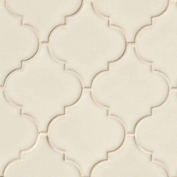 antique white ceramic arabesque tile