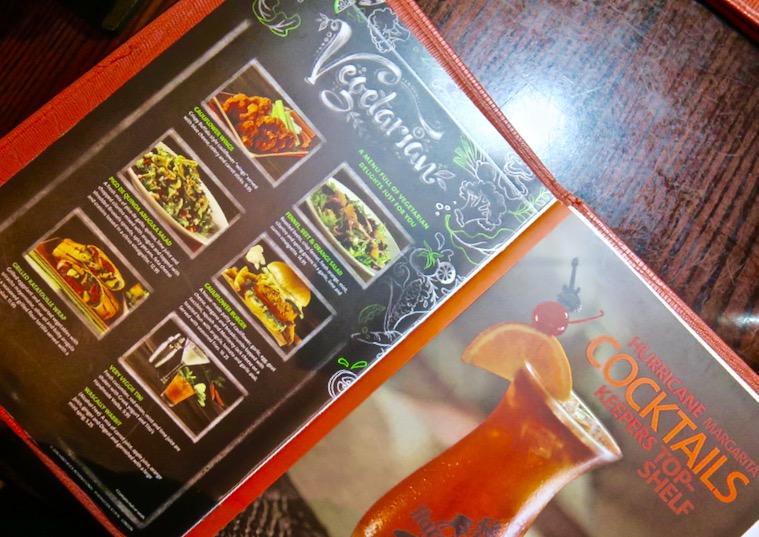 Hard Rock London Vegetarian Menu